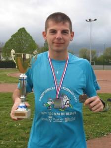 Champion de France Espoir sur 100kms Belvès 14 Avril 12